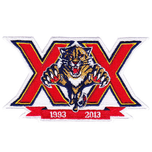 2013 Florida Panthers Team 20th Anniversary Season Logo Jersey Patch