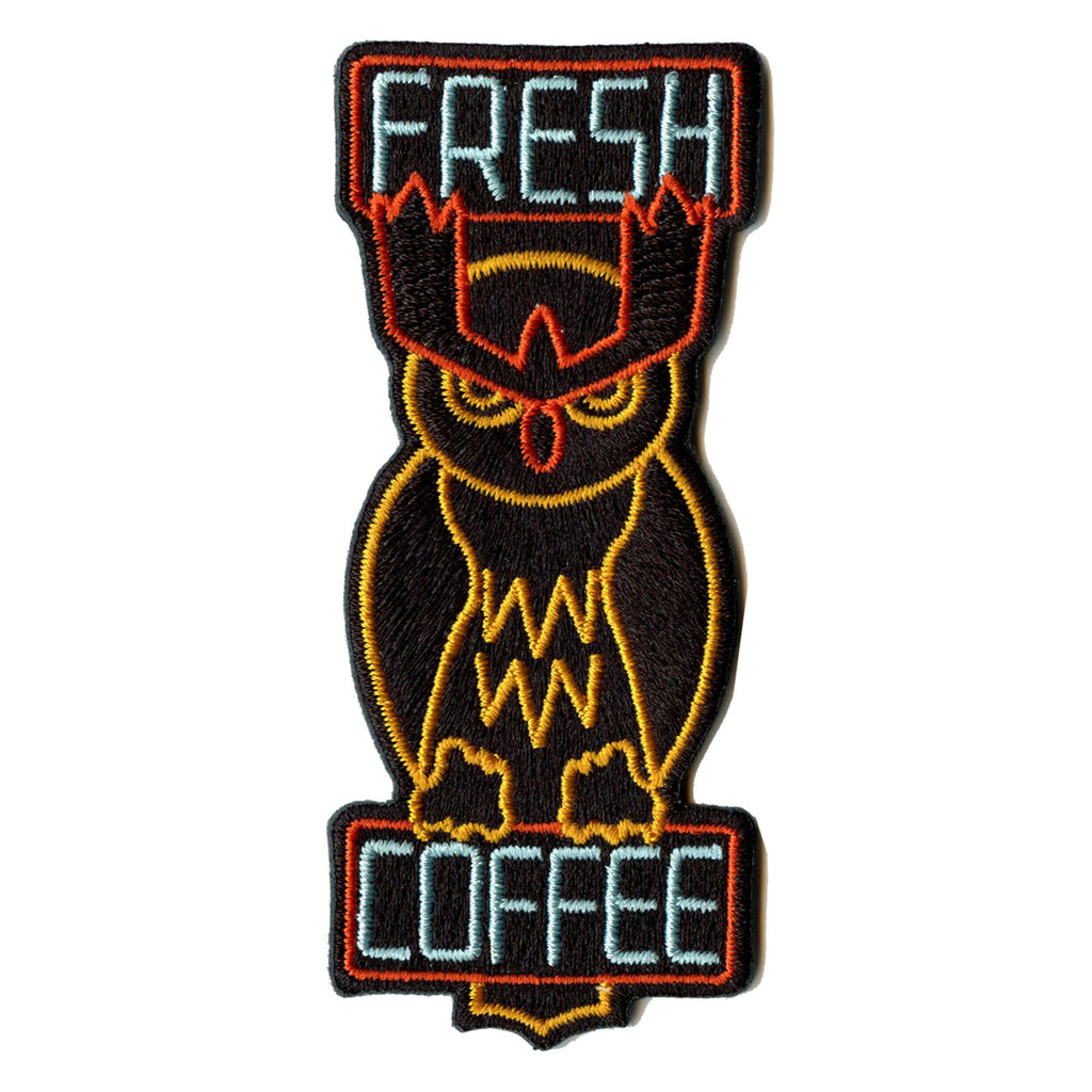 Pokemon Movie Noctowl Fresh Coffee Sign Embroidered Iron On Patch
