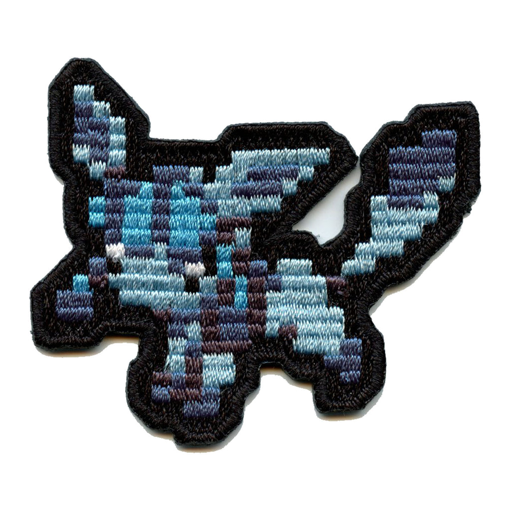 Pokemon Pixel Eevee Evolution Glaceon Embroidered Patch