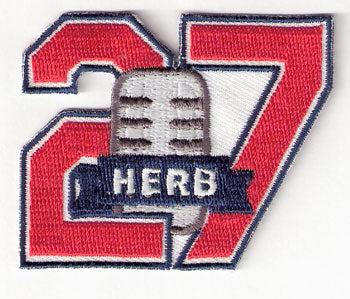 Herb Score Memorial Cleveland Indians Number 27 Jersey Sleeve Patch (2009)