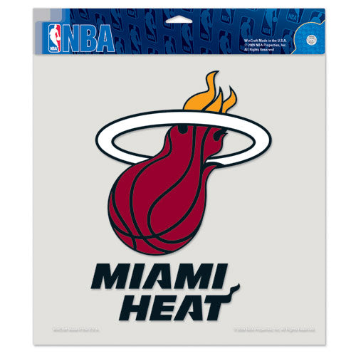 "Miami Heat Primary Logo Die Cut Decal 8"" x 8"" (Colored)"