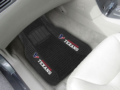 "Houston Texans Deluxe Car Mat 2 Piece 20"" x 27"" Universal Fit"