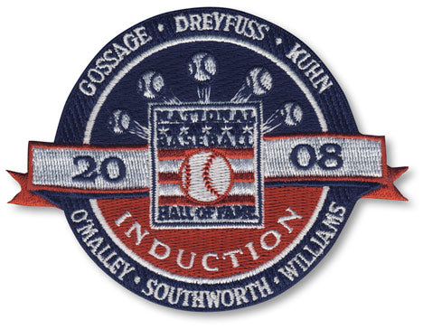2008 National Baseball Hall Of Fame Induction Patch (Gossage, Dreyfuss, Kuhn, O'Malley, Southworth, Williams)
