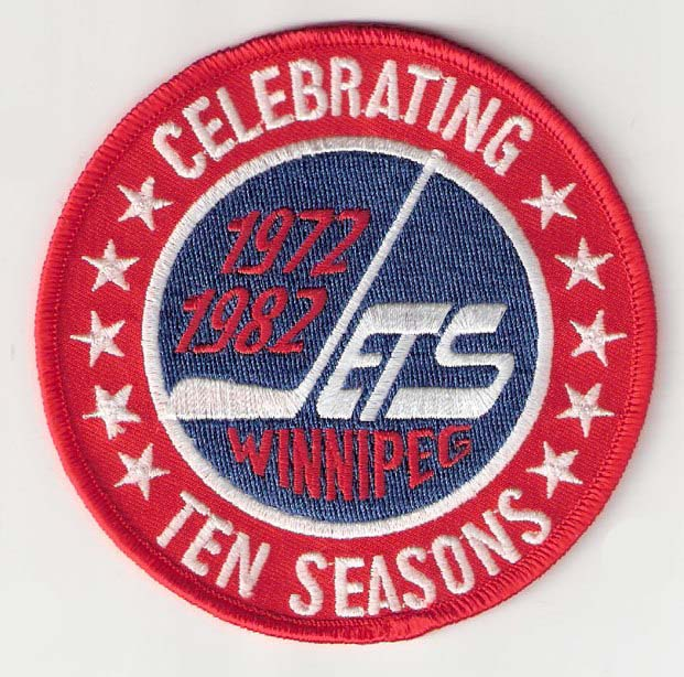 1981-82 Winnipeg Jets 10th Anniversary Patch