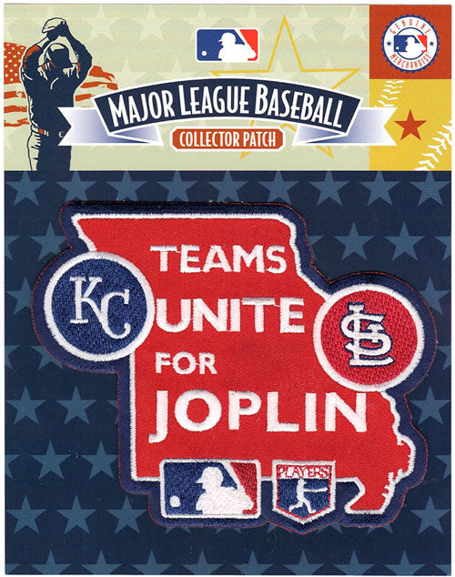 2011 Teams Unite For Joplin St Louis Cardinals Kansas City Royals Jersey Sleeve Patch