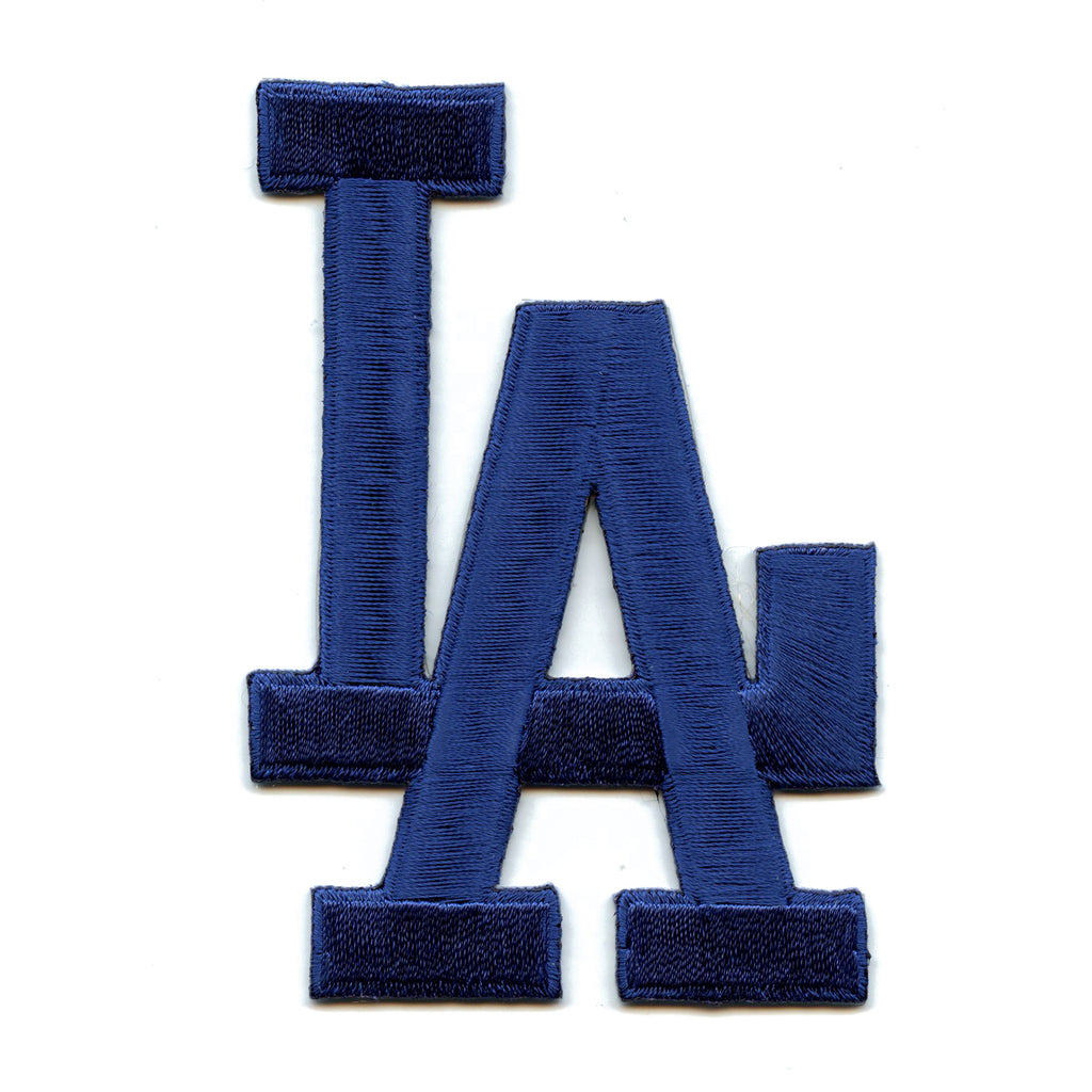 Los Angeles Dodgers L.A. Script Jersey Sleeve Patch (Solid Blue)