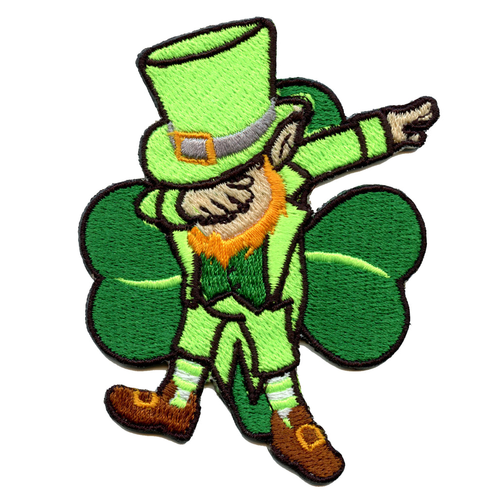 Dabbing Leprechaun St. Patrick's Day Iron On Patch