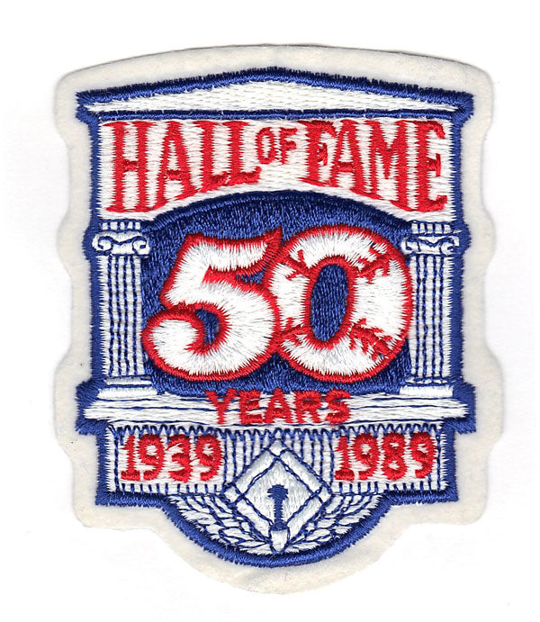 1989 National Baseball Hall Of Fame 50th Anniversary Patch (1939)