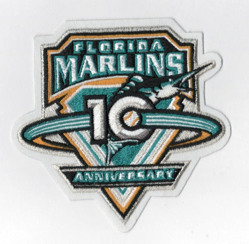 2003 Florida Marlins 10th Anniversary Patch