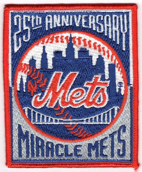1969 New York Mets 'Miracle Mets' Champions 1994 25th Anniversary Jersey Patch
