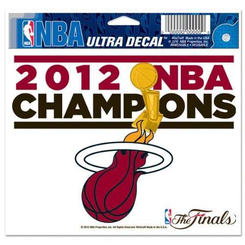 "2012 NBA Champions Miami Heat Ultra Decal 5"" x 6"""