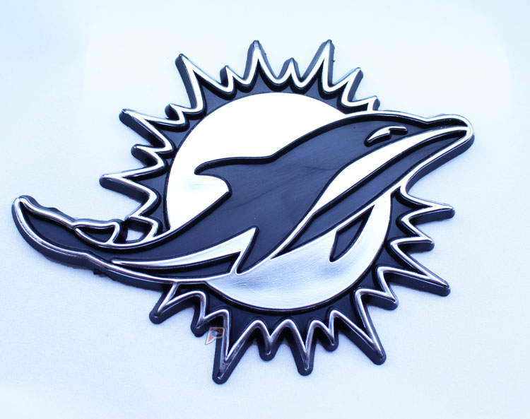 Miami Dolphins Car 3D Chrome Auto Emblem
