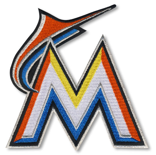 Miami Marlins Alternate Primary Team Logo Sleeve Patch (Worn with orange jerseys)