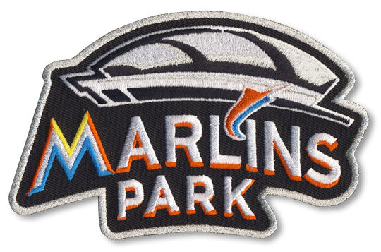 2012 Miami Marlins Park Inaugural Season Jersey Sleeve Patch (Road)