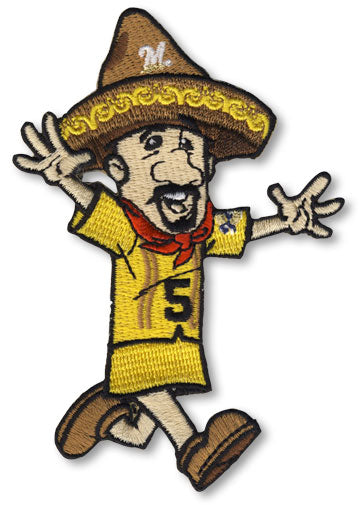 Milwaukee Brewers Sausage Race 5 Cinco de Mayo Team Mascot Patch