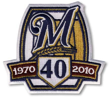 2010 Milwaukee Brewers 40th Anniversary Patch