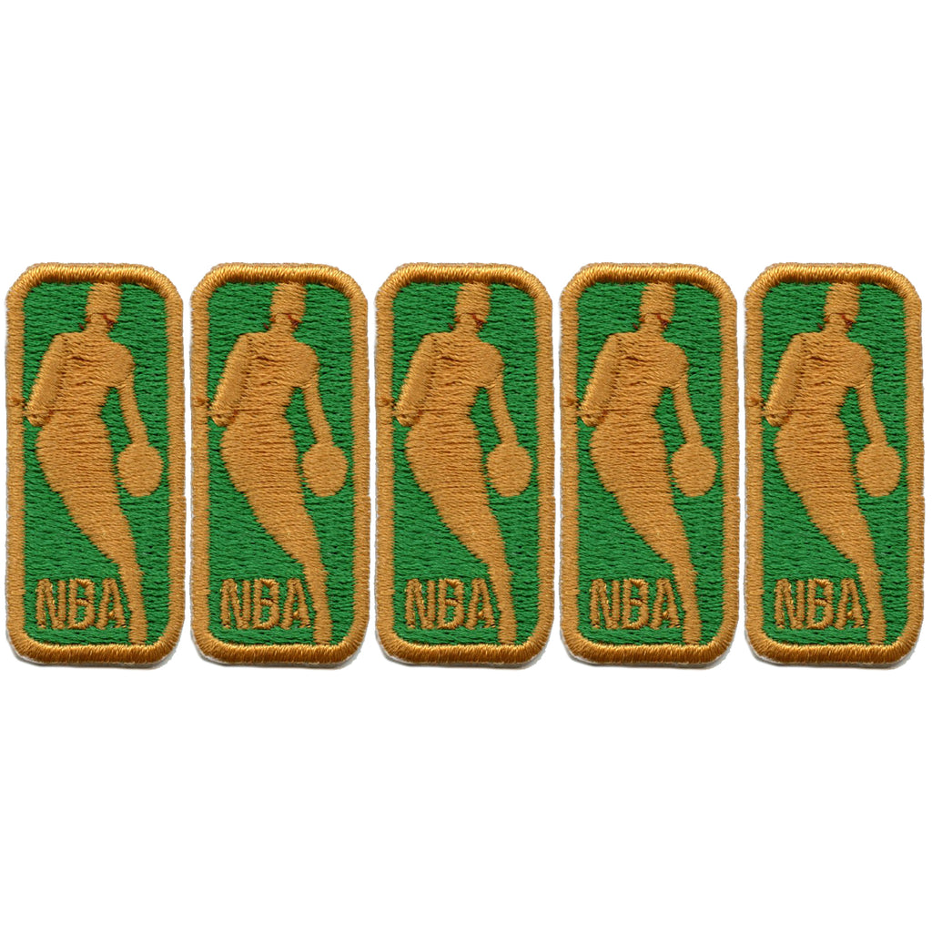 NBA 50th Anniversary Small Logo Jersey Patch Set Of 5 (Green)