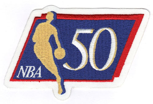 National Basketball Association NBA 50th Anniversary Logo Patch (1996-97)