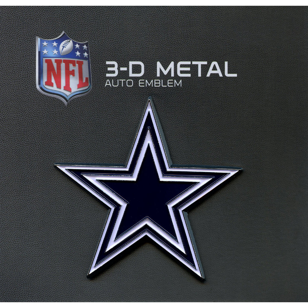 Dallas Cowboys Premium Solid Metal Chrome Plated Car Auto Navy Blue Emblem