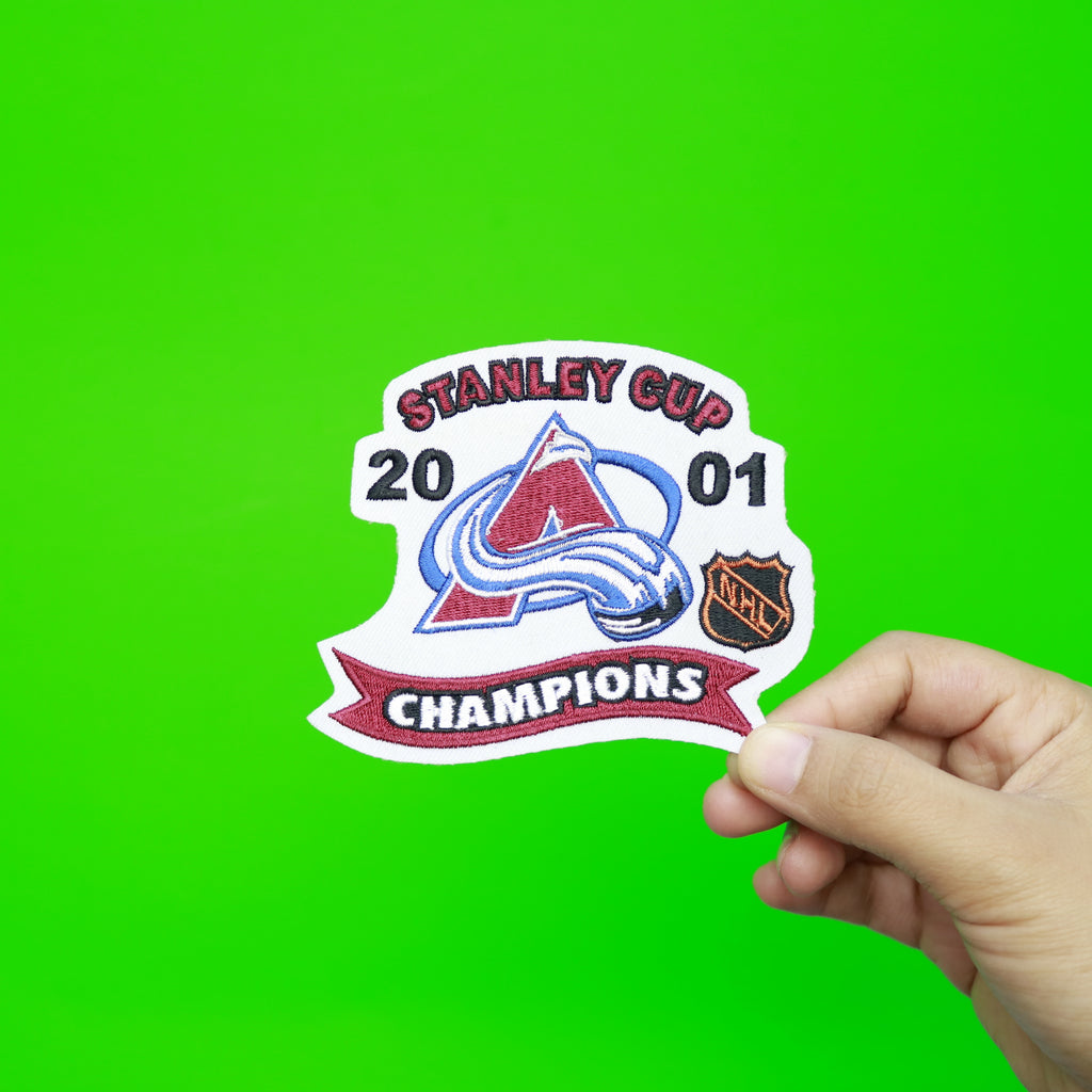 2001 NHL Stanley Cup Finals Champions Colorado Avalanche Patch