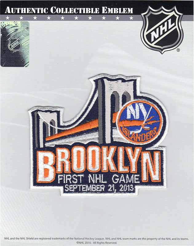 New York Islanders Brooklyn Barclay Center First NHL Game Jersey Patch 'September 21, 2013'