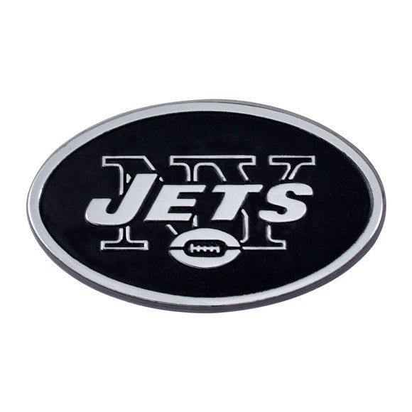 New York Jets Premium Solid Metal Chrome Plated Car Auto Emblem