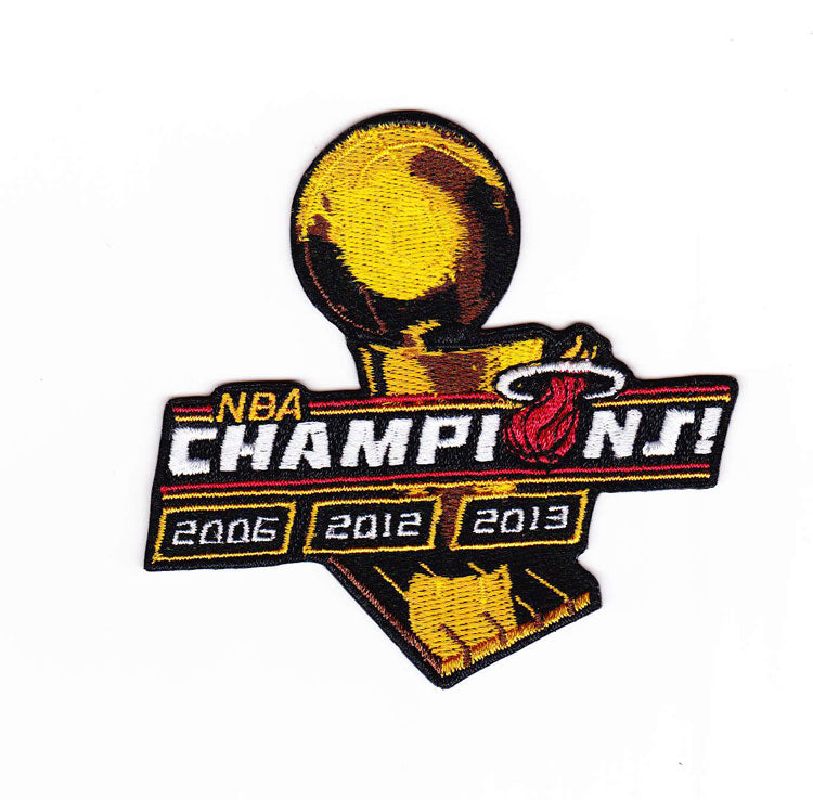 2013 2012 2006 3-Time NBA Finals Champions Championship Miami Heat Patch