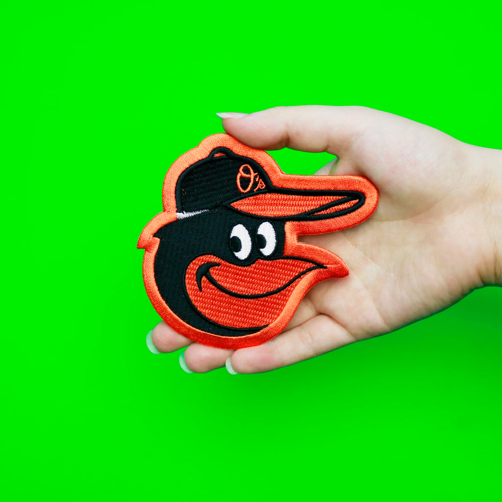 Baltimore Orioles Cartoon Bird Hat Logo Patch