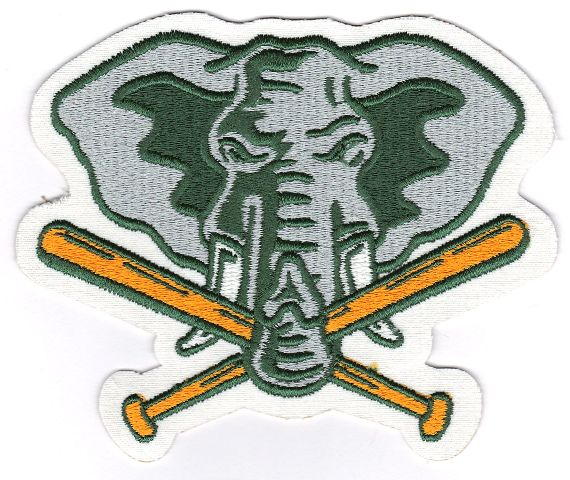 Oakland A's Athletics Elephant Crossing Bats Jersey Sleeve Patch (1993-1994)