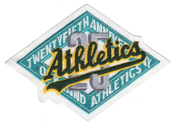 1992 Oakland Athletics 25th Anniversary Logo Patch