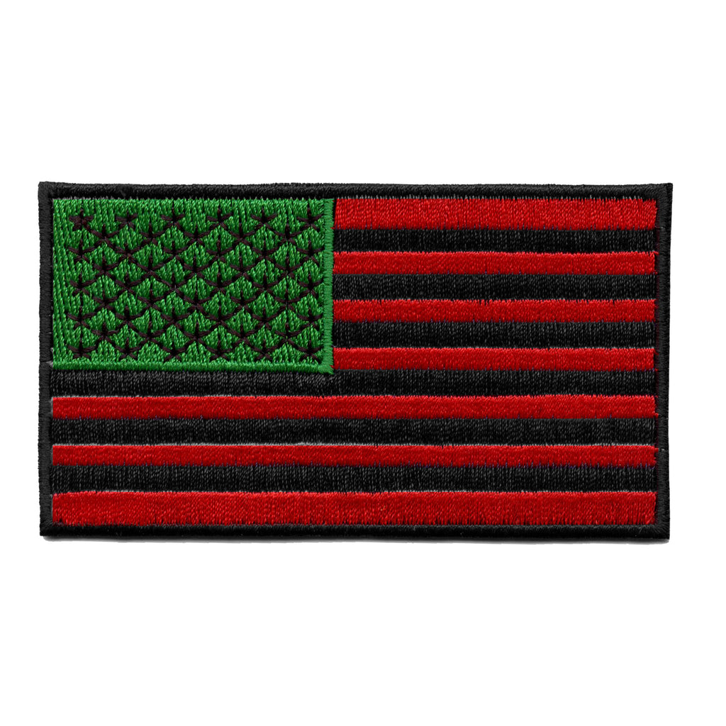 Pan-African American Flag Embroidered Iron On Patch
