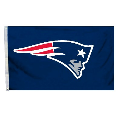 New England Patriots Team Logo Flag 3' X 5' With Metal Grommets