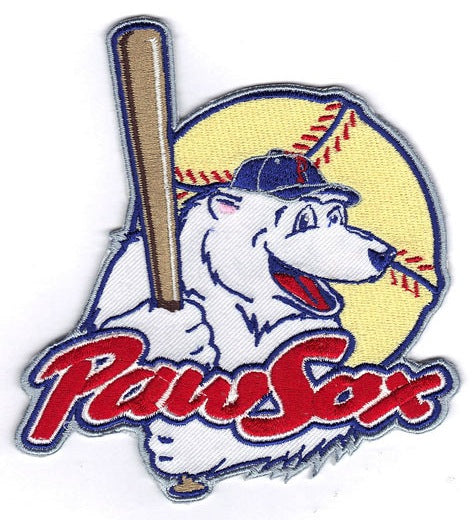 Pawtucket Red Sox 'Paw Sox' Minor League Team Logo Patch