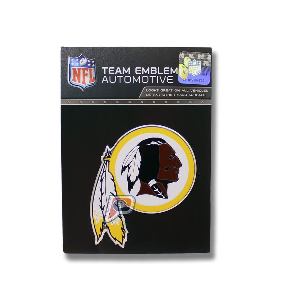 Washington Redskins Colored Aluminum Car Auto Emblem