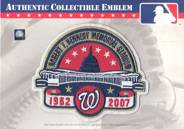 Washington Nationals 'RFK' Robert F. Kennedy Memorial Stadium Patch (2007 White Border Version)