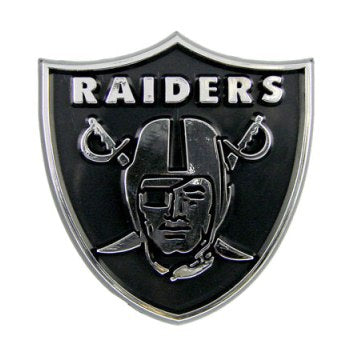 Oakland Raiders Car 3D Chrome Auto Emblem