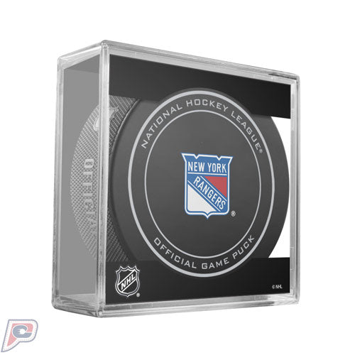 New York Rangers Official NHL Game Puck Packaged in Puck Cube