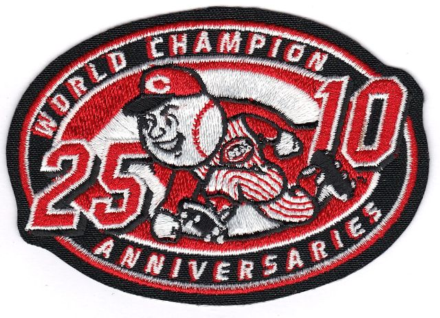 2000 Cincinnati Reds 25/10 Anniversaries of 1975 & 1990 Jersey Patch