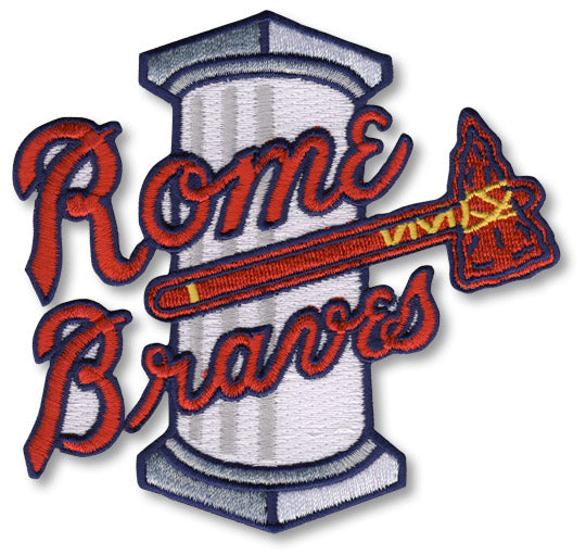 Rome Braves Minor League Primary Team Logo Patch