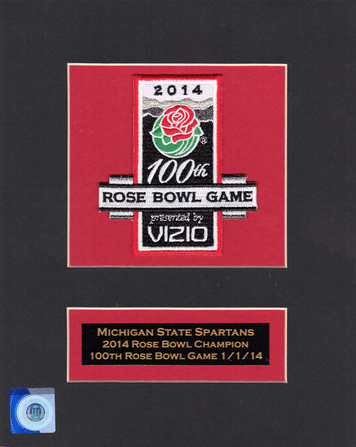 2014 Rose Bowl Bowl Game Jersey Patch 100th Anniversary Matted (Michigan State vs. Stanford)