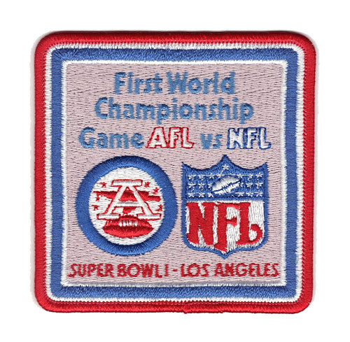 1967 NFL Super Bowl I Logo Willabee & Ward Patch (Kansas City Chiefs vs. Green Bay Packers)