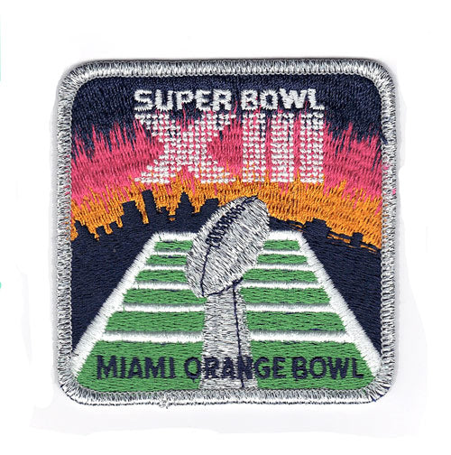 1979 NFL Super Bowl XIII Logo Willabee & Ward Patch (Dallas Cowboys vs. Pittsburgh Steelers)