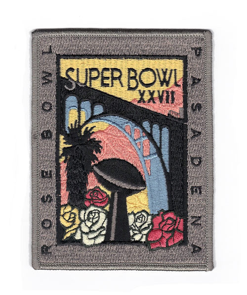 1993 NFL Super Bowl XXVII Logo Willabee & Ward Patch (Buffalo Bills vs. Dallas Cowboys)