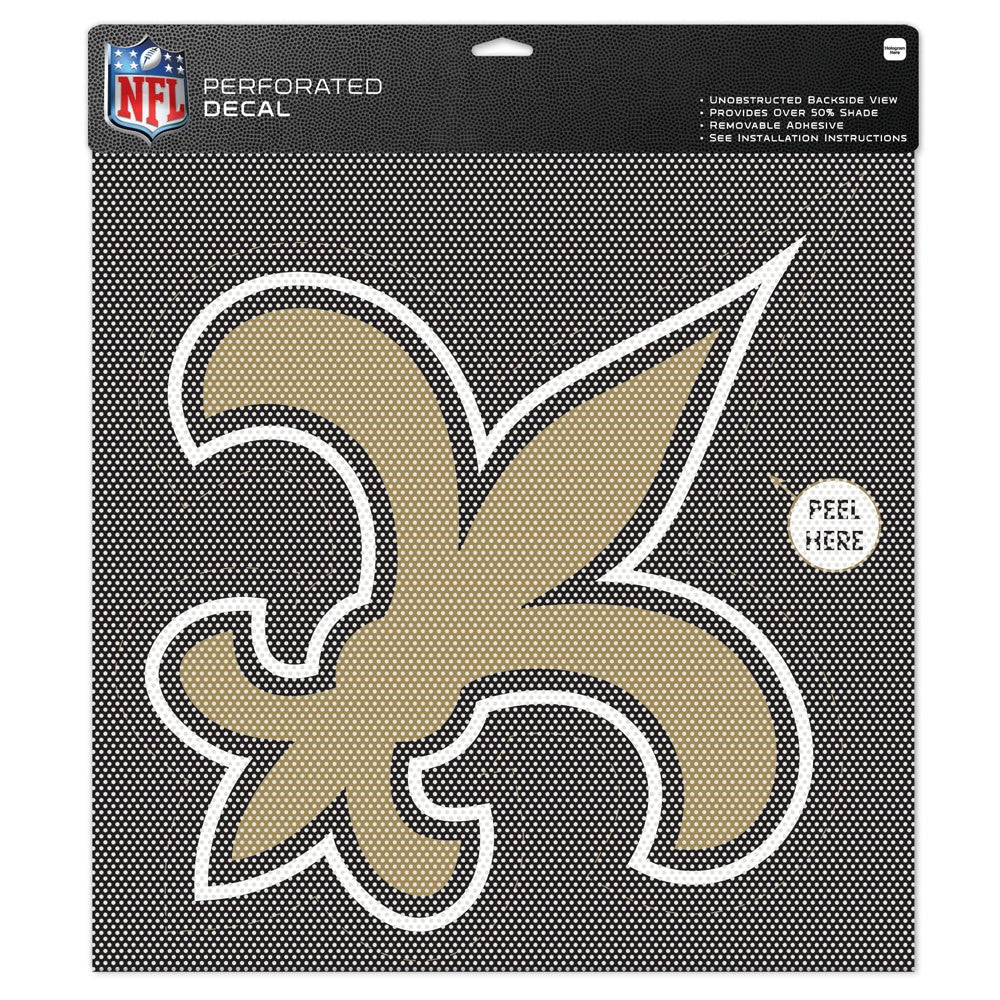 "New Orleans Saints Team Logo Perforated Decal 17""T x 17""W"