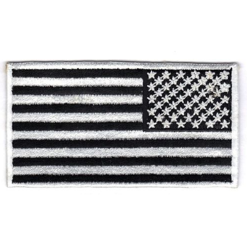 United States of America U.S.A. Military Army Black & White Reverse Country Flag Patch