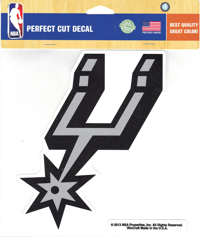 "San Antonio Spurs Alternate Team Logo Perfect Cut Decal 8"" X 8"""