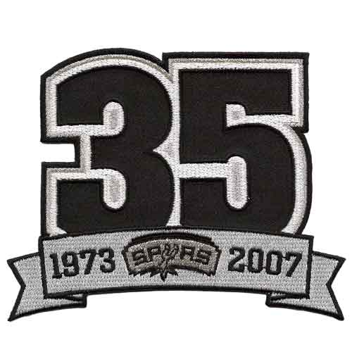 San Antonio Spurs 35th Anniversary Logo Patch (2007-08)