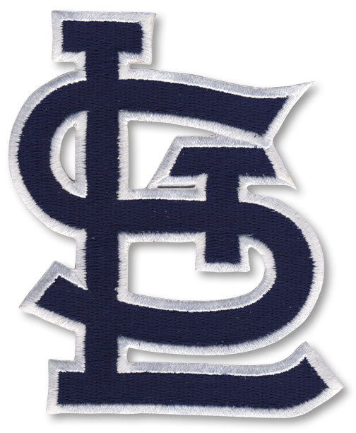 St. Louis Cardinals 'STL' Blue Letter Script Hat Logo Patch