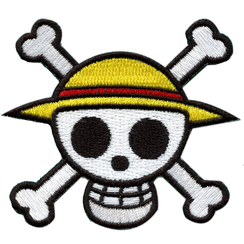 One Piece Anime Straw Hat Logo Embroidered Patch - Die Cut