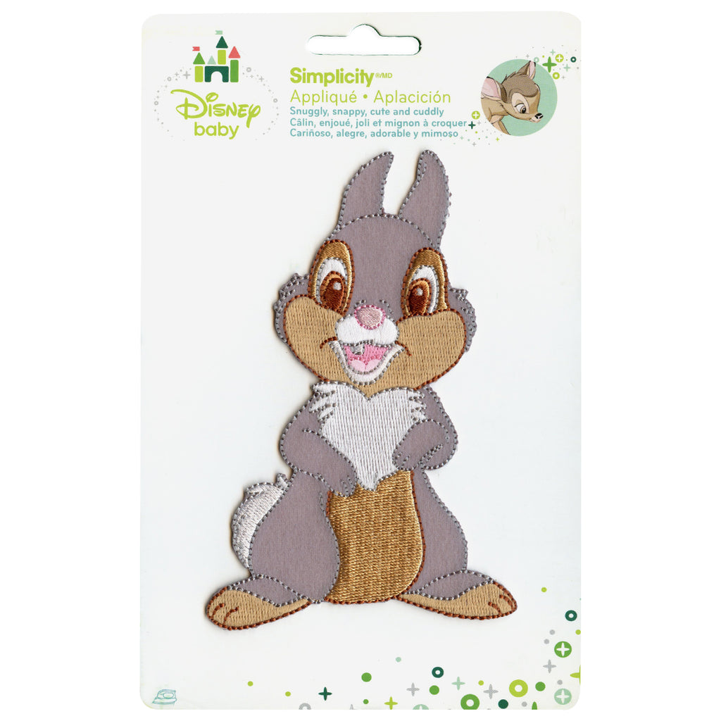 Disney Thumper Full Body Embroidered Applique Iron On Patch